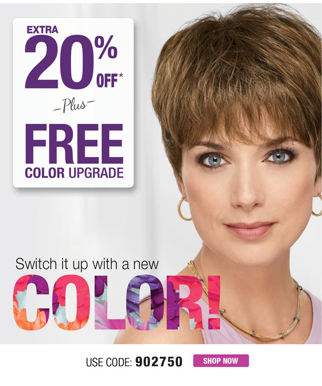20% OFF ORDERS $59 OR MORE + FREE COLOR UPGRADE!