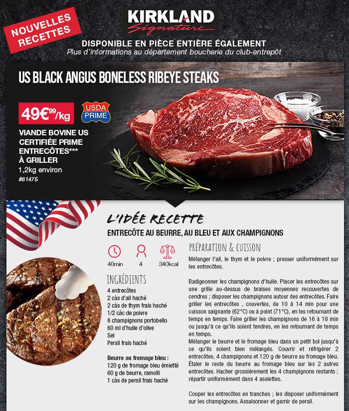 1 viande bovine américaine achetée, un guide de cuisson offert