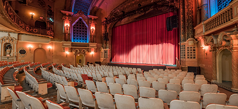 A view of Orpheum seats from Orchestra level